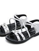 povoljno Haljine za djevojčice-Djevojčice Lakirana koža Sandale Dijete (9m-4ys) / Mala djeca (4-7s) / Velika djeca (7 godina +) Udobne cipele Obala / Crn Ljeto