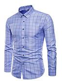 hesapli Erkek Gömlekleri-Erkek Pamuklu Gömlek Kareli Havuz