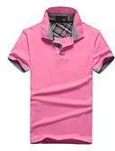 זול חולצות פולו לגברים-אחיד צווארון חולצה Polo - בגדי ריקוד גברים ורוד מסמיק