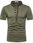 cheap Men's Shirts-Men's Cotton T-shirt - Solid Colored Dark Gray
