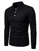 preiswerte Herren Polo Shirts-Herrn Solide Hemd, Hemdkragen Rote L
