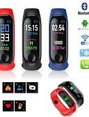 זול שעונים דיגיטלים-בגדי ריקוד גברים שעון דיגיטלי דיגיטלי גומי שחור / כחול / אדום 30 m עמיד במים לוח שנה LCD דיגיטלי יום יומי אופנתי - שחור כחול כהה אדום / שעון עצר / זוהר בחושך