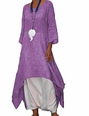 cheap Maxi Dresses-Women's Loose Swing Shirt Dress Dark Gray Gray Purple XXXL XXXXL XXXXXL