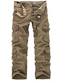 abordables Camisas de Hombre-Hombre Militar Chinos / Pantalones de Deporte Pantalones - Un Color Gris