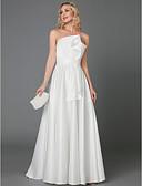 povoljno Vjenčanice-A-kroj Bez naramenica Do poda Saten Izrađene su mjere za vjenčanja s Mašna po LAN TING BRIDE®