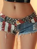 hesapli Kadın Pantolonl-Kadın's Temel İnce Şortlar Pantolon - Bayrak Düşük Bel Navy Mavi L XL XXL