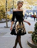 cheap Women's Dresses-Women's A Line Dress - Floral Print Black L XL XXL