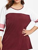economico Taglie forti-T-shirt Per donna Collage, Monocolore Nero XXXL