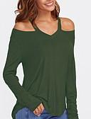 povoljno Ženski džemperi-Majica s rukavima Žene Jednobojni S naramenicama Slim Crn