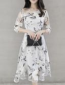 cheap Women's Dresses-Women's A Line Dress White Gray Yellow L XL XXL