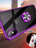 halpa iPhone kotelot-Etui Käyttötarkoitus Apple iPhone XS / iPhone XR / iPhone XS Max Pinnoitus / Sormuksen pidike / Läpinäkyvä Takakuori Yhtenäinen Kova PC