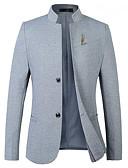 hesapli Erkek Blazerları ve Takım Elbiseleri-Erkek Blazer Çentik Yaka Pamuklu Siyah / Koyu Mavi / Gri XXXL / XXXXL / XXXXXL