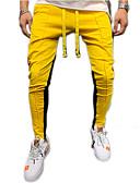 povoljno Muške majice i potkošulje-Muškarci Aktivan / Osnovni Chinos / Sportske hlače Hlače - Jednobojni Red Sive boje Bijela XL XXL XXXL