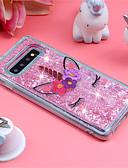hesapli Cep Telefonu Kılıfları-Pouzdro Uyumluluk Samsung Galaxy S9 / S9 Plus / S8 Plus Şoka Dayanıklı / Akan Sıvı / Temalı Arka Kapak Tek boynuzlu / Işıltılı Parlak Yumuşak TPU