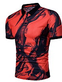 billige T-shirts og undertrøjer til herrer-Rund hals Tynd Herre - Farveblok T-shirt Hvid XL