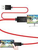 זול כבל & מטענים iPhone-mhl כבל מיקרו USB 2.0 ל HDMI HDMI כבל מתאם זכר - זכר 1.8m (6ft)