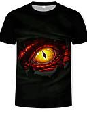 abordables Camisetas y Tops de Hombre-Hombre Estampado Camiseta 3D / Animal / Caricatura