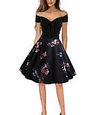 abordables Disfraces Históricos y Vintage-Mujer Vintage Vaina Vestido - Estampado Midi