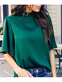 cheap Women's Hoodies & Sweatshirts-2019 New Arrival Blouses Women's Slim Blouse - Solid Colored Green Blusas Mujer Chemise Femme M
