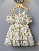 זול שמלות לבנות-שמלה שרוולים קצרים פרחוני בנות ילדים