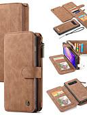 halpa Puhelimen kuoret-Etui Käyttötarkoitus Samsung Galaxy S9 / S9 Plus / S8 Plus Lomapkko / Korttikotelo / Tuella Suojakuori Yhtenäinen Kova PU-nahka