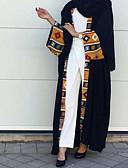 abordables Vestidos Maxi-Mujer Básico Chic de Calle Abaya Kaftan Vestido - Acordonado, Bloques Maxi