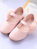 billige Maxikjoler-Jente PU Flate sko Toddler (9m-4ys) / Små barn (4-7år) Komfort / Sko til blomsterpiker Pom-pom Hvit / Rosa Vår / Høst / Bryllup / Fest / aften / Bryllup / Gummi