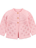 levne Dětské bundičky a kabátky-Dítě Dívčí Základní Jednobarevné Vystřižený Standardní Blejzry Světlá růžová / Toddler