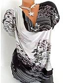 お買い得  ビキニ-女性用 Tシャツ Vネック スリム 幾何学模様 ブラック XXXL