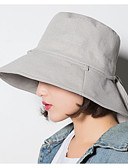 preiswerte Damenhüte-Damen Grundlegend,Baumwolle Schlapphut Solide Marineblau Grau Khaki