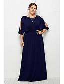 זול שמלות במידות גדולות-מקסי אחיד - שמלה נדן בסיסי סגנון רחוב בגדי ריקוד נשים