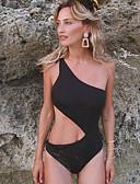 halpa Yksiosaiset uima-asut-Naisten Musta Stringit Bikini Uima-asut - Yhtenäinen M L XL Musta