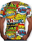hesapli Erkek Tişörtleri ve Atletleri-Erkek Yuvarlak Yaka Tişört Harf Yonca