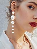 billiga Brudklänningar-Dam Dropp Örhängen Oäkta pärla örhängen Smycken Guld Till Bröllop Födelsedag en Pair