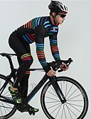hesapli Erkek Kapşonluları ve Svetşörtleri-BOESTALK Erkek Uzun Kollu Askılı Kısa Bisiklet Taytları Siyah Gökküşağı Çizgi Bisiklet Nefes Alabilir Geri Pocket Kış Spor Dalları Tüylü Kumaş Çok Renkli Dağ Bisikletçiliği Yol Bisikletçiliği Giyim