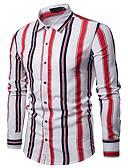 povoljno Muške duge i kratke hlače-Majica Muškarci - Ulični šik Izlasci / Klub Color block Klasični ovratnik Obala L / Dugih rukava