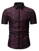 cheap Men's Shirts-Men's Shirt - Polka Dot Print Classic Collar Blue XL