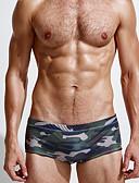 זול תחתוני גברים אקזוטיים-קשת L XL XXL להסוות, בגדי ים חלקים תחתונים רגלו של הילד קשת בגדי ריקוד גברים / סקסית