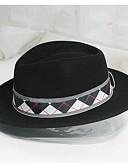 ราคาถูก หมวกสุภาพบุรุษ-สำหรับผู้ชาย สีพื้น พื้นฐาน - หมวกบัคเก็ต
