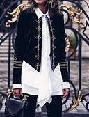 levne Romantická krajka-Dámské Práce Krátké kimono Jacket, Jednobarevné Do V Dlouhý rukáv Polyester Černá L / XL / XXL