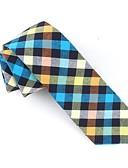 זול עניבות ועניבות פרפר לגברים-עניבת צווארון - דפוס / משובץ מסיבה / עבודה / פעיל בגדי ריקוד גברים