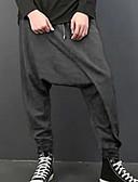 Недорогие Мужские брюки и шорты-Муж. Классический Гарем Брюки - Однотонный Черный Серый M L XL