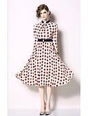cheap Prom Dresses-Casual Dress A-Line Jewel Neck Knee Length Chiffon Dress with Pattern / Print / Sash / Ribbon by LAN TING Express