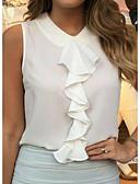 cheap Women's Blouses-Women's Plus Size Blouse - Solid Colored Cowl Black XXXL