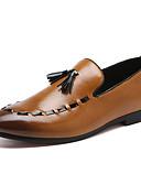 رخيصةأون سترات و بدلات الرجال-رجالي أحذية رسمية المواد التركيبية الربيع الأعمال التجارية / كاجوال المتسكعون وزلة الإضافات غير الانزلاق أسود / بني / بورجوندي