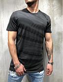 זול טישרטים לגופיות לגברים-3D צווארון עגול רזה טישרט - בגדי ריקוד גברים אודם XL