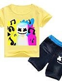 זול סטים של ביגוד לבנים-סט של בגדים כותנה שרוולים קצרים אנימציה פעיל בנים ילדים