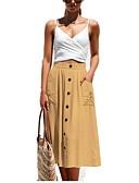 billige Nederdele-kvinders midi en line nederdele - solidfarvet