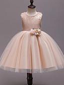 cheap Girls' Dresses-Kids Girls' Cute Patchwork Mesh / Patchwork Sleeveless Rayon / Polyester Dress Khaki