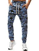 hesapli Erkek Pantolonları ve Şortları-Erkek Sokak Şıklığı Büyük Bedenler Chinos Pantolon - Desen Koyu Mavi Açık Mavi Haki XXL XXXL XXXXL